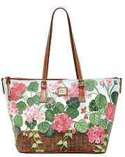 New Dooney & Bourke Garden Basket PVC Leather Trim Large Leisure Tote