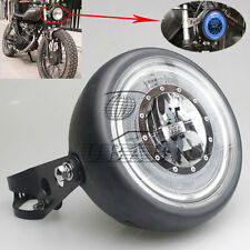 Black Metal Retro H4 H/L LED Headlight+Bracket For CG125 GN125 Chopper Bobber