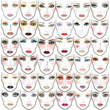 2000+  MAC Makeup Face Charts Cosmetics Training Manual