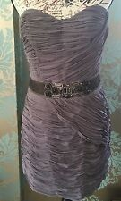 Rrp £249 Ted Baker Embellished Rouched Detail Dress Baker Size 4 UK 14 New BNWT