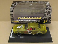 Pioneer 68 Mustang Notchback Ltd Ed #47 of 70 Yellow X-Ray Racer 1:32 Slot Car