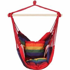 Swing Hanging Hammock Chair With Two Cushions (Red) (AA05)