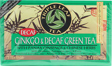 Ginkgo & Decaf Green Tea with Ginseng & Chinese Herbs, 20 tea bag 1 pack