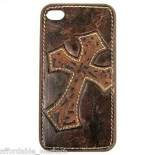iPhone 5 5S Cover ~ Tool LEATHER CROSS ~ Protective Case Hardback Western Cowboy