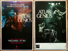 ATLAS GENIUS When It Was Now Ltd Ed Discontinued RARE 2 Posters Lot +FREE Poster