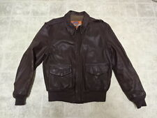 COOPER A2 BOMBER FLIGHT LEATHER JACKET 42 MADE IN USA GREAT COND NOT MUCH USED
