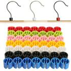 50x New Plastic Snap On Retail Clothes Hanger Size Markers Tags sign Label Cubes
