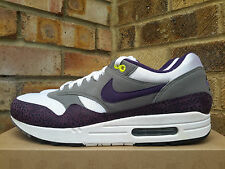 2009 NIKE AIR MAX 1 PURPLE SAFARI UK 10.5 45.5 90 grey white rare 308866 151 og