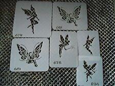 Airbrush Temporary Tattoo Stencil Set 113 Fairies New by Island Tribal!