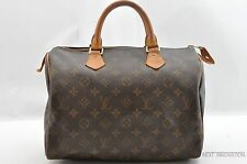 Authentic Louis Vuitton Monogram Speedy 30 Hand Bag M41526 LV 27772
