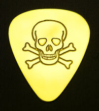 PIRATE  SKULL AND CROSSBONES - Solid Brass Guitar Pick, Acoustic, Electric, Bass