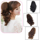 Hot Womens Short Wavy Curly Claw Ponytail Clip in/on Hair Extension Hairpiece
