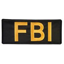 FBI Big XL 10x4 inch tactical 25x10cm embroidery SWAT federal vest hook patch