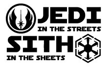 Decal Vinyl Truck Car Sticker - Star Wars Jedi In The Streets Sith In The Sheets