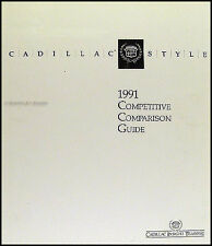 1991 Cadillac Competitive Comparison Guide Allante Deville Eldorado Seville etc.