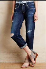 AG Size 26 The Tomboy Crop Distressed Jeans Anthropologie Relaxed Straight