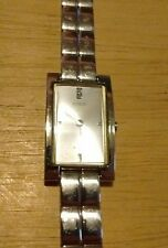 Vintage Guess Diamond Steel G58662L ladies watch, running with new battery NR G