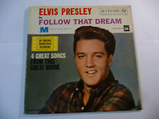 "ELVIS PRESLEY"" FOLLOW THAT DREAM-disco 45 giri EP RCA  It 1959""ONLY SLEEVE"