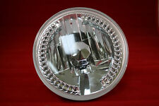 7 INCH HALOGEN CLEAR WITH WHITE LED RUNNING HEADLAMP HEADLIGHT Harley Davidson