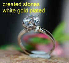 2ct round DIAM0ND with collar ring size N 7