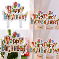 30X  Birthday Cake Cupcake Cake Topper Food Topper Shower Party Pick 9*7cm   LE