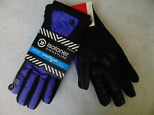 Isotoner Signature Smart Touch Gloves Active Matrix Black Violet XL #C116