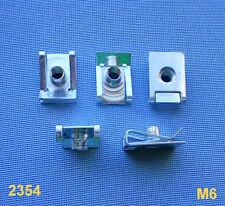 (2354) 5x Befestigungsklammer Blechmutter Klammer M6 für Peugeot, Volvo. KÜHLER