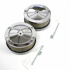 Chrome 6 x 3 Inch Air Cleaner Set fits Chevy Ford Mopar Pontiac and Oldsmobile