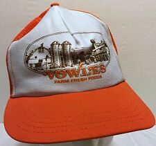 VTG Vowles Fresh Farm Foods Orange Mesh Trucker Snapback Hat Produce Market