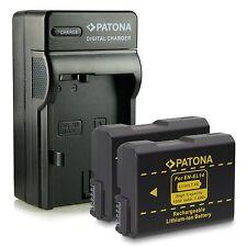 x2 batterie + caricabatteria enel14 per nikon d3100 d3200 nikon DF 1030 mah