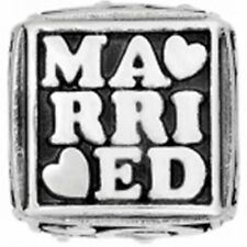 Brighton Just Married Wedding Marry Cube Bead Charm NWOT