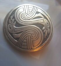 ST JUSTIN PEWTER DOUBLE SWAN CELTIC BROOCH