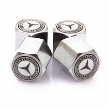 Mercedes Benz Dust Caps Anti Theft Car Wheel Tyre Valve Covers Set of  4