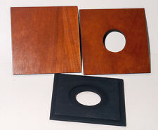 "1  LENS BOARD 4x4"" ""C"" for GRAFLEX ANNIVERSARY SPEED GRAPHIC - of Plywood Cherry"
