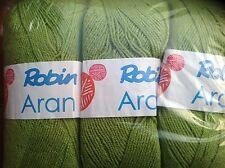 ROBIN ARAN APPLE GREEN KNITTING WOOL YARN 1X400G BALL RAMSDEN SHADE 16 NEW