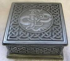 RESIN CELTIC KNOT SQUARE TRINKET BOX Jewellery Stash Pill