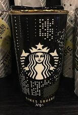 "STARBUCKS NEW YORK NYC ""TIME SQUARE"" 12 Oz DOUBLE WALL TRAVELER CUP BRAND NEW!!"
