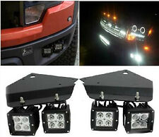 4X 18W LED Flood Light Bar Bumper Holder Mount Bracket fit for Ford F-150 Raptor