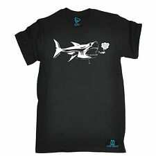 OW Where Are The Big Fish Shark T Shirt slogan tee gift divers diving scuba dive