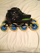 luigino speedskates, Pilot Striker Frame, WRW wheels 100mm, Brand new Reds.