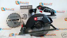 "New Porter Cable PCC660 20V Max Li-Ion Cordless 6-1/2"" Circular Saw with Blade"