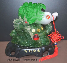Feng Shui Dragon Turtle Bai Choi Chinese Knot Stand Good Luck & Prosperity