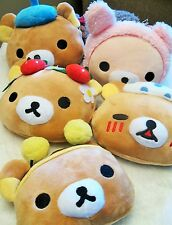 Rilakkuma-FIVE Pics Awesome RK Bear Toy Plush Coin Bag w/ ID Holder