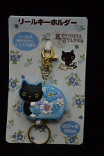 San-X Kutusita Nyanko Cat Reel Extract Key Holder Flower Edition