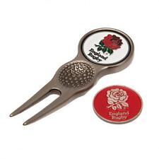 England rugby equipo inglés RFU Pitch Reparador Divot Tool & Marcador Pelota de golf
