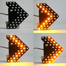 Yellow 33-SMD Sequential LED Arrows Panel for Car Side Mirror Turn Signal Light
