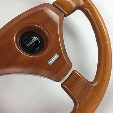 Momo Veloce 350mm wood rim car steering wheel. Genuine. Classic retro. LOVELY!