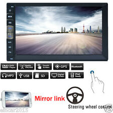 7 Inch Double 2 DIN Android Stereo Car CD DVD Player Radio GPS FM Touch EQ/USB