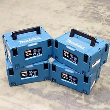 4 MAKITA MAKPACK CONNECTOR PLASTIC TOOL BOXES / CARRY CASES. TYPE 3  MAKPAC