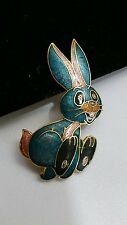 Vintage Cloisonne Easter Bunny Pin Brooch Jewelry Bunny Figurine